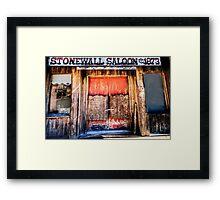 StoneWall Saloon - Saint Jo , Texas Framed Print