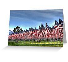 911 Flag Memorial: USA Greeting Card