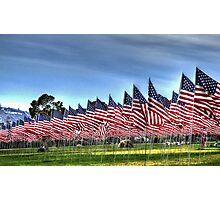 911 Flag Memorial: USA Photographic Print