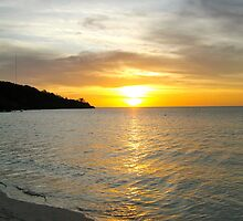 Caribbean Sunset On Grande Anse Beach by Lorna81