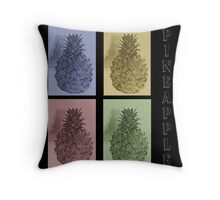 Collage-Pineapple Throw Pillow