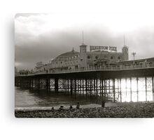Brighton Pier, Sunlight And Seascape Canvas Print