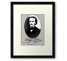 Edgar Allan Poe Portrait with Signature Framed Print