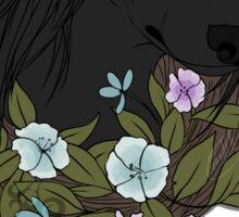 Dark Floral Canine Sticker