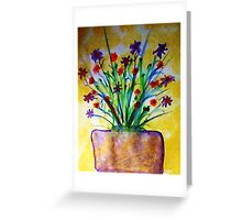 Flowers on the Patio, watercolor Greeting Card