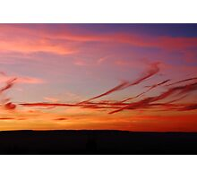 LINED PENDLE SUNSET Photographic Print