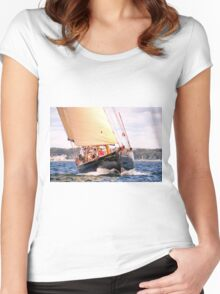 Working The Wind Women's Fitted Scoop T-Shirt