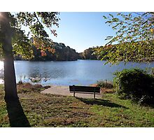 Come sit with me beside Greenbelt Lake 3 Photographic Print