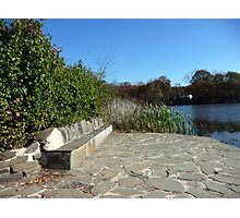 Come sit with me beside Greenbelt Lake 5 Photographic Print