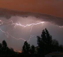 Colorado Lightning Storm #1 - Colorado Springs by Cari Graves