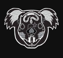 Day of the Dead Koala Black and White Negative Baby Tee