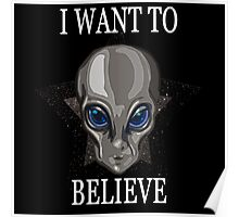 I want to Believe, SPACE/GreyAlien Poster