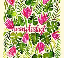 Tropical Wanderlust – Pink & Lime by Cat Coquillette