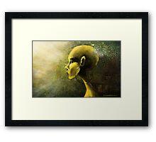 Alien in Yellow -Road of the Dessert Framed Print
