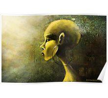 Alien in Yellow -Road of the Dessert Poster