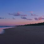 kawana beach at sunset by sharpbokeh