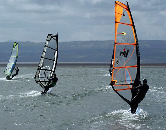 Three Windsurfers by sherylb1