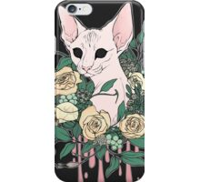 Light Floral Feline iPhone Case/Skin
