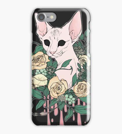 Light Floral Feline iPhone Case/Skin