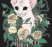 Light Floral Feline by GoldMouse