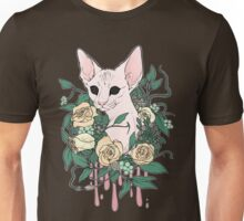 Light Floral Feline Unisex T-Shirt