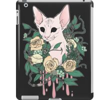 Light Floral Feline iPad Case/Skin