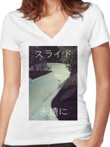 Eternal slide Women's Fitted V-Neck T-Shirt