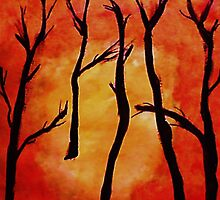 It;s HOT, after the fire, watercolor by Anna  Lewis
