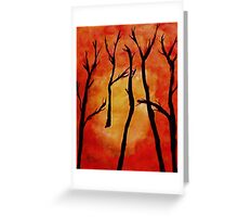 It;s HOT, after the fire, watercolor Greeting Card