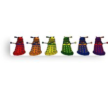 The Grateful Daleks (No Text) Canvas Print