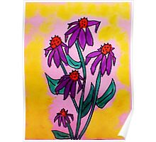 Lavender Crazy Daiseys series  with yellow backround, watercolor, and soon to be added into a Calender Poster