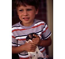 A Boy and His Pet Photographic Print