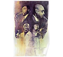 Jazz Legends Parker Gillespie Armstrong  Poster