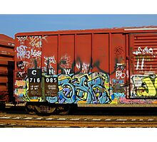 The Painted Train Photographic Print