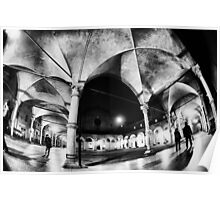 Urban CityScape, Arcades of Bologna Italy Poster
