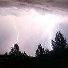 Colorado Lightning Storm #3 - Colorado Springs by Cari Graves