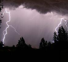 Colorado Lightning Storm #4 - Colorado Springs by Cari Graves