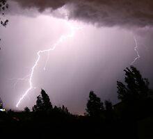 Colorado Lightning Storm #6 - Colorado Springs by Cari Graves