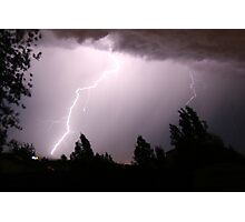 Colorado Lightning Storm #6 - Colorado Springs Photographic Print