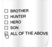 Dean Winchester Checklist Poster