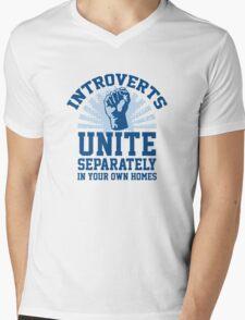Introverts Unite Mens V-Neck T-Shirt