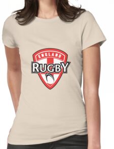 England rugby ball shield flag Womens Fitted T-Shirt