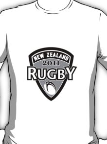 New Zealand rugby world cup 2011 ball shield T-Shirt