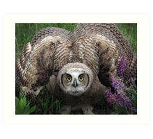 Owlet... I'm Really Huge! Art Print