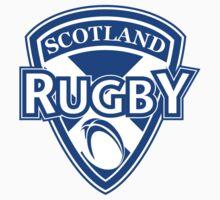 Scotland rugby ball and shield by patrimonio