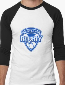 Scotland rugby ball and shield Men's Baseball ¾ T-Shirt