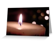 Holiday Candle Greeting Card