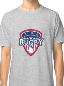 rugby ball and shield usa Classic T-Shirt
