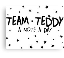 #TEAM TEDDY Canvas Print