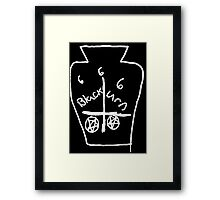 666 BLACK URN DEATH 666 Framed Print